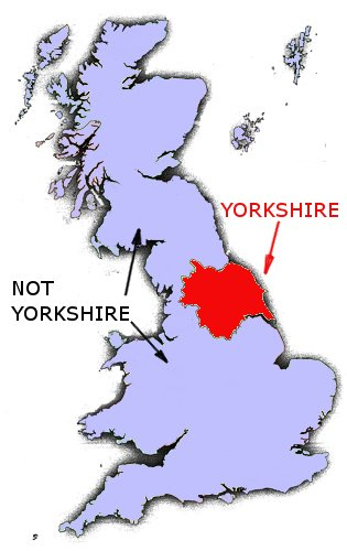 Yorkshireman's Map of the World